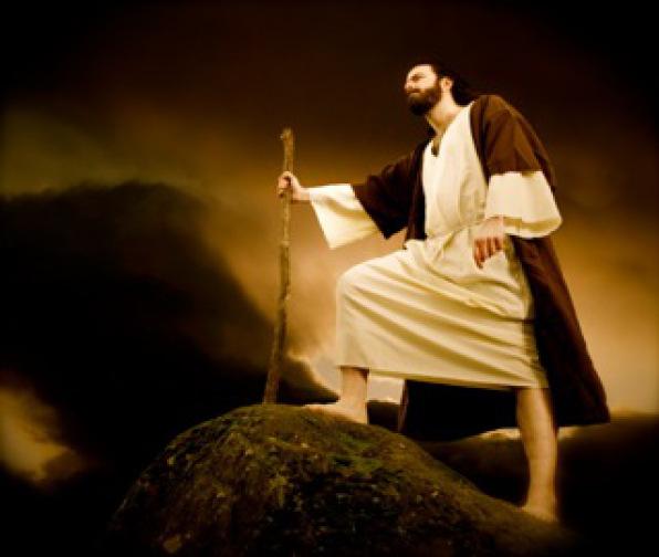 Jehovah gaat uit van zijn plaats en hij zal stellig neerdalen en treden op de hoge plaatsen der aarde